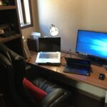 書斎の机の上の配置替えしてみた!